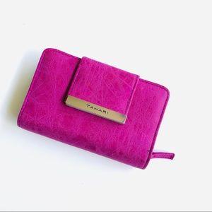 Tahari Magenta Zip Wallet